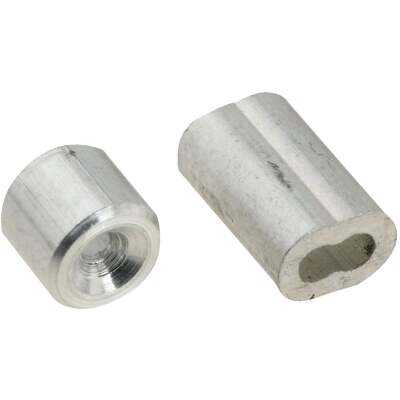 """Prime-Line Cable Ferrules And Stops, 1/16"""", Aluminum"""