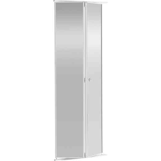Colonial Elegance 30 In. H x 80-1/2 In. H White Framed Mirrored Bifold Door