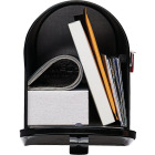 Gibraltar Elite Series T1 Black Steel Rural Post Mount Mailbox Image 3