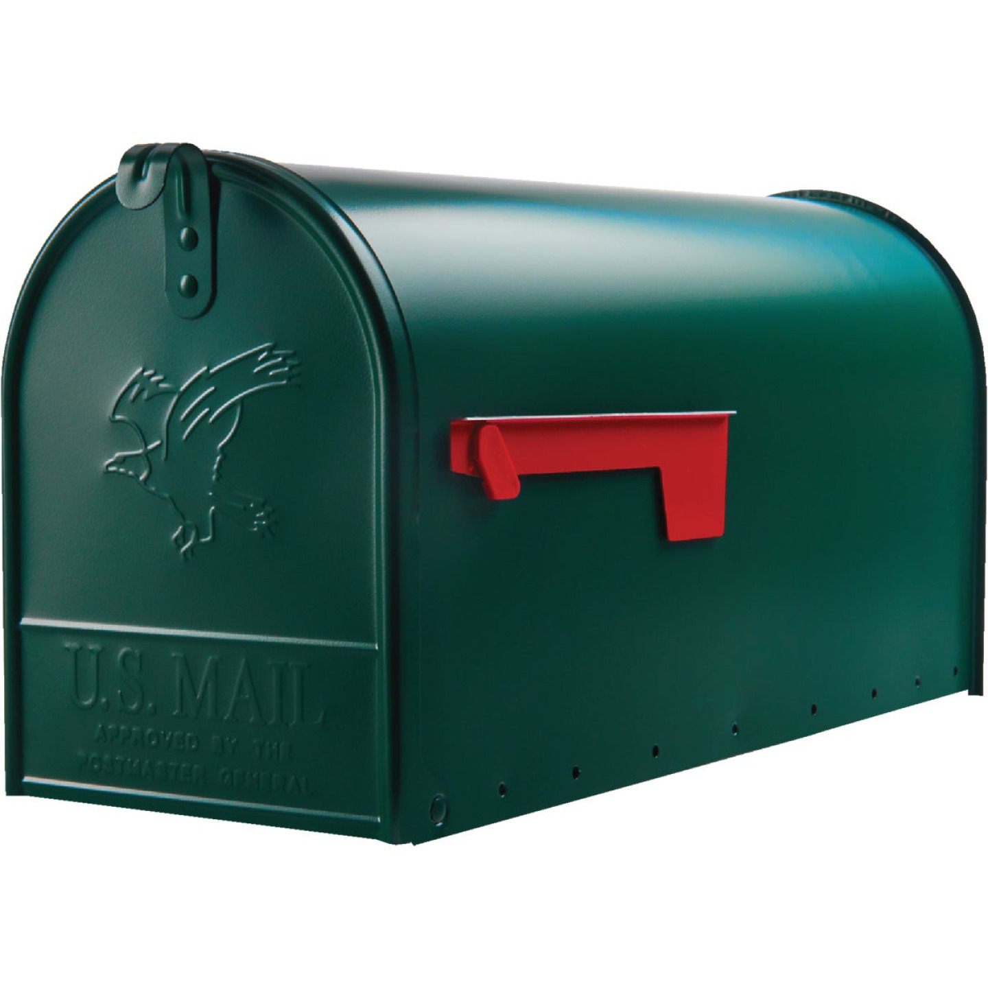 Gibraltar Elite T2 Large Green Steel Rural Post Mount Mailbox Image 2