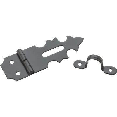 National 5/8 In. X 1-7/8 In. Oil Rubbed Bronze 2-Hole Decorative Hasp