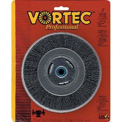 Weiler Vortec 6 In. Crimped, Coarse Bench Grinder Wire Wheel