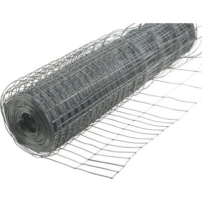 Rabbit Guard 28 In. H. x 50 Ft. L. Galvanized Wire Garden Fence, Silver